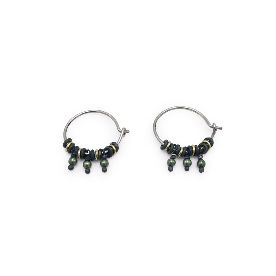 Image of Jump-Ring & Bead Hoop Earrings