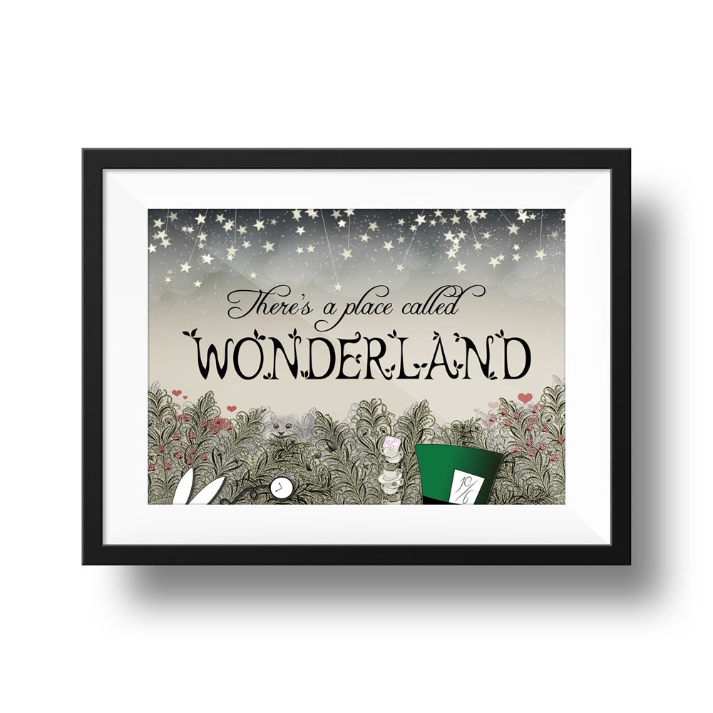 There's a Place Called Wonderland - Alice In Wonderland | Giclée