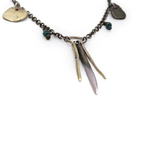 Image of Beaded Spike & Rock Necklace