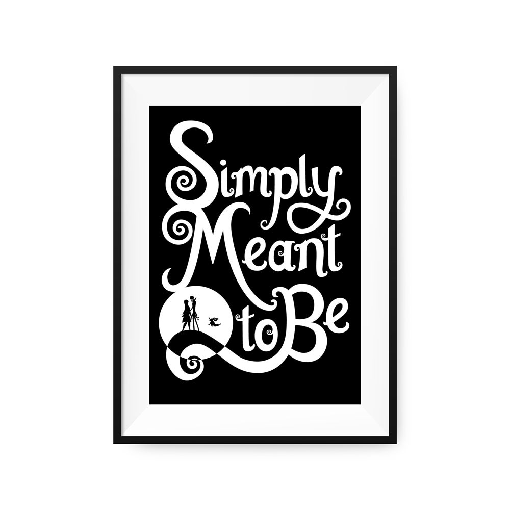 Simply Meant to Be - Nightmare Before Christmas | Giclée