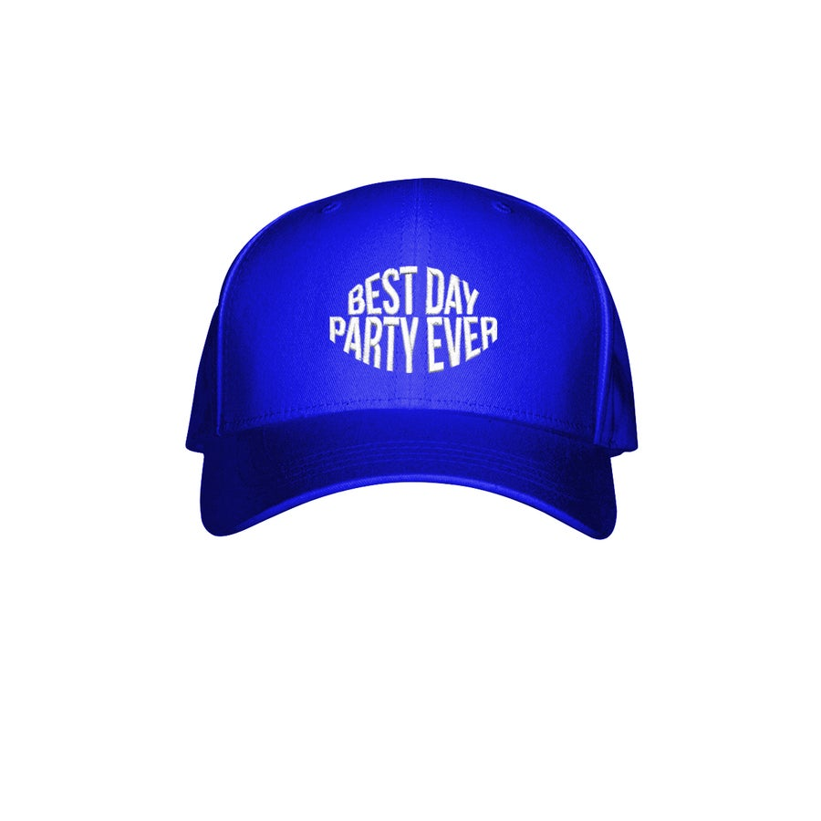 Image of BEST DAY PARTY EVER HAT - BLUE