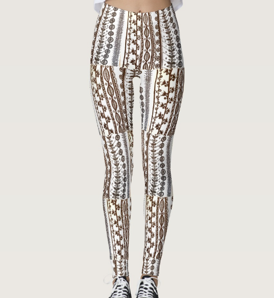 Image of Scandinavian Vine Patchwork Leggings