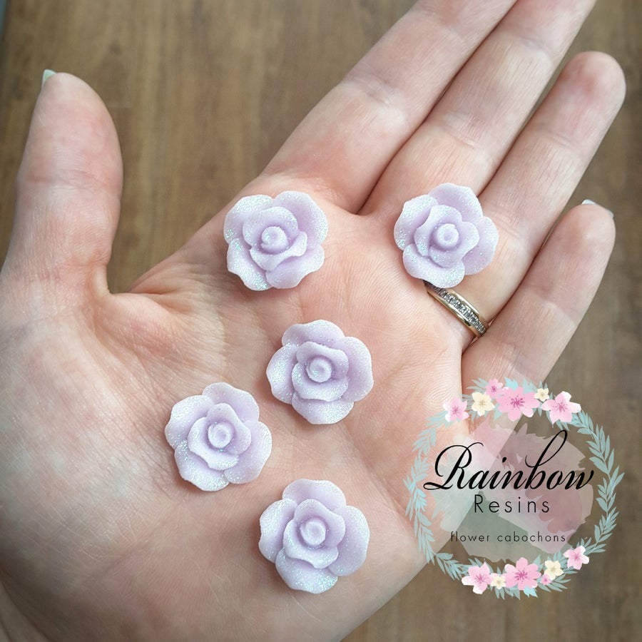 Image of Sparkly lilac roses x 10