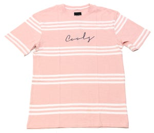 Image of B Striped Homie Tee Pink Stripe