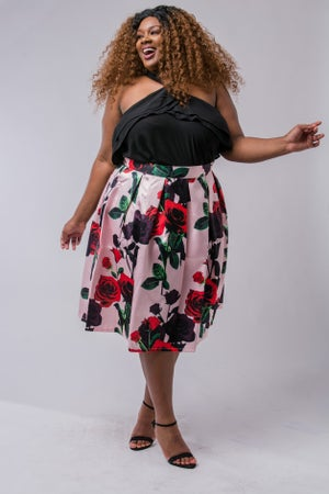 Image of MENA FLOWER POWER SKIRT