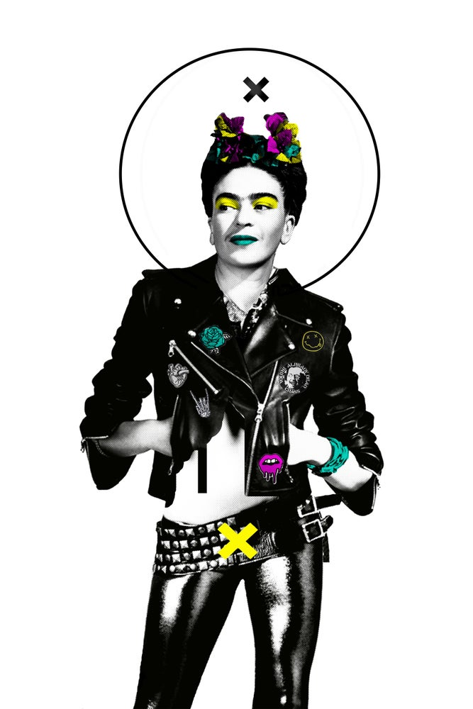 "Image of ""Frida was Punk"" 12in x 18in print"