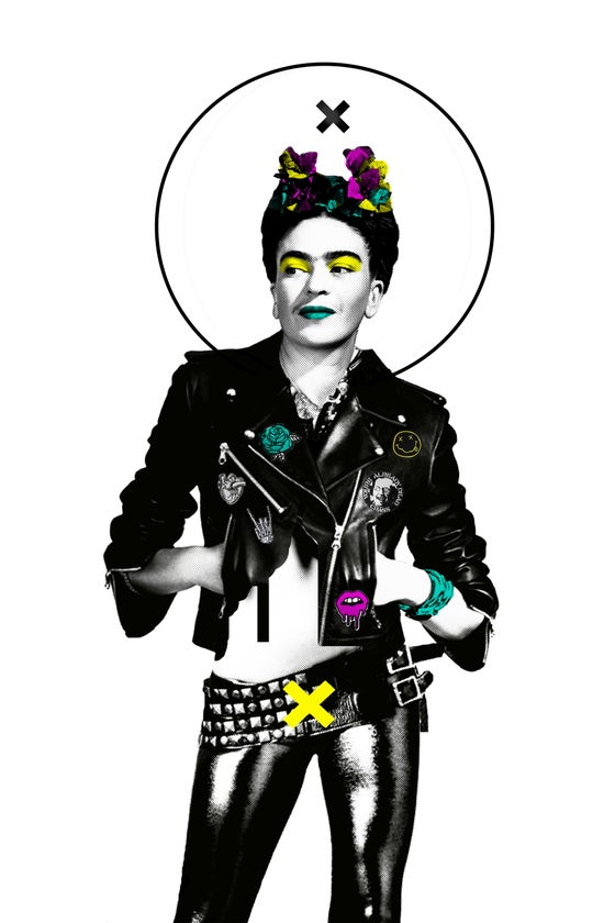 """Image of """"Frida was Punk"""" 12in x 18in print"""