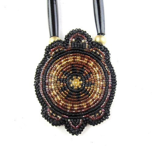 Image of Beaded Mikinaak Pendant (Brave)