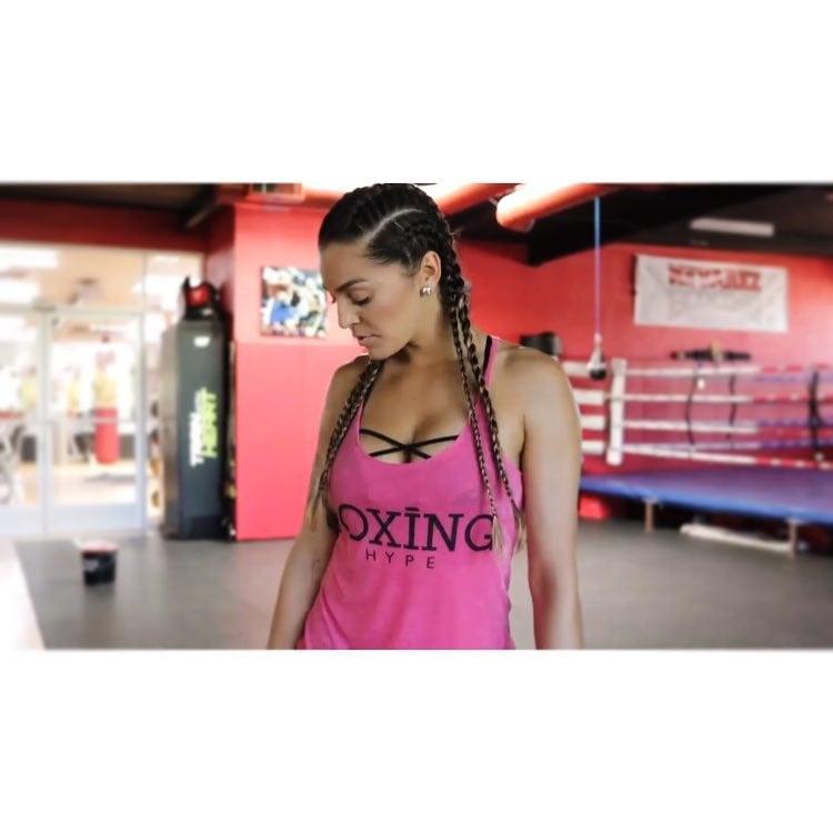Image of Women's BoxingHype Logo racerback tanks