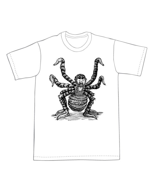 Friendly Spider T-shirt (B3)**FREE SHIPPING**