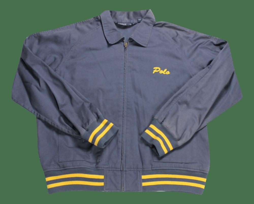 Image of Ralph Lauren Navy canvas Jacket