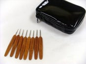 Image of Bamboo Handle Steel Crochet Hook Set