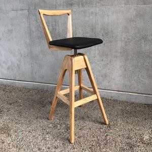 Image of TH Brown Danish Swivel Stool ~ Light ash