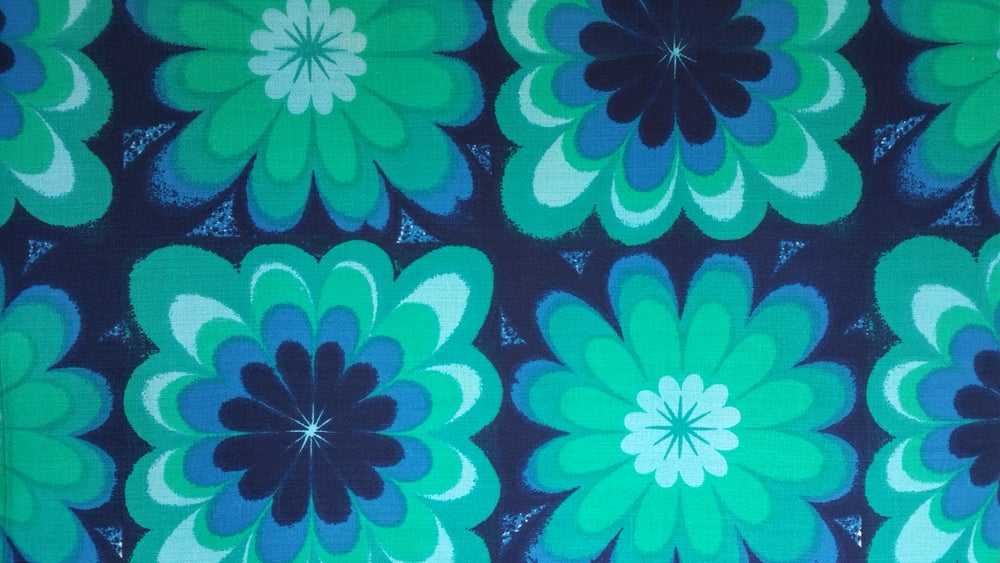 Image of Blue & Green Vintage Fabric
