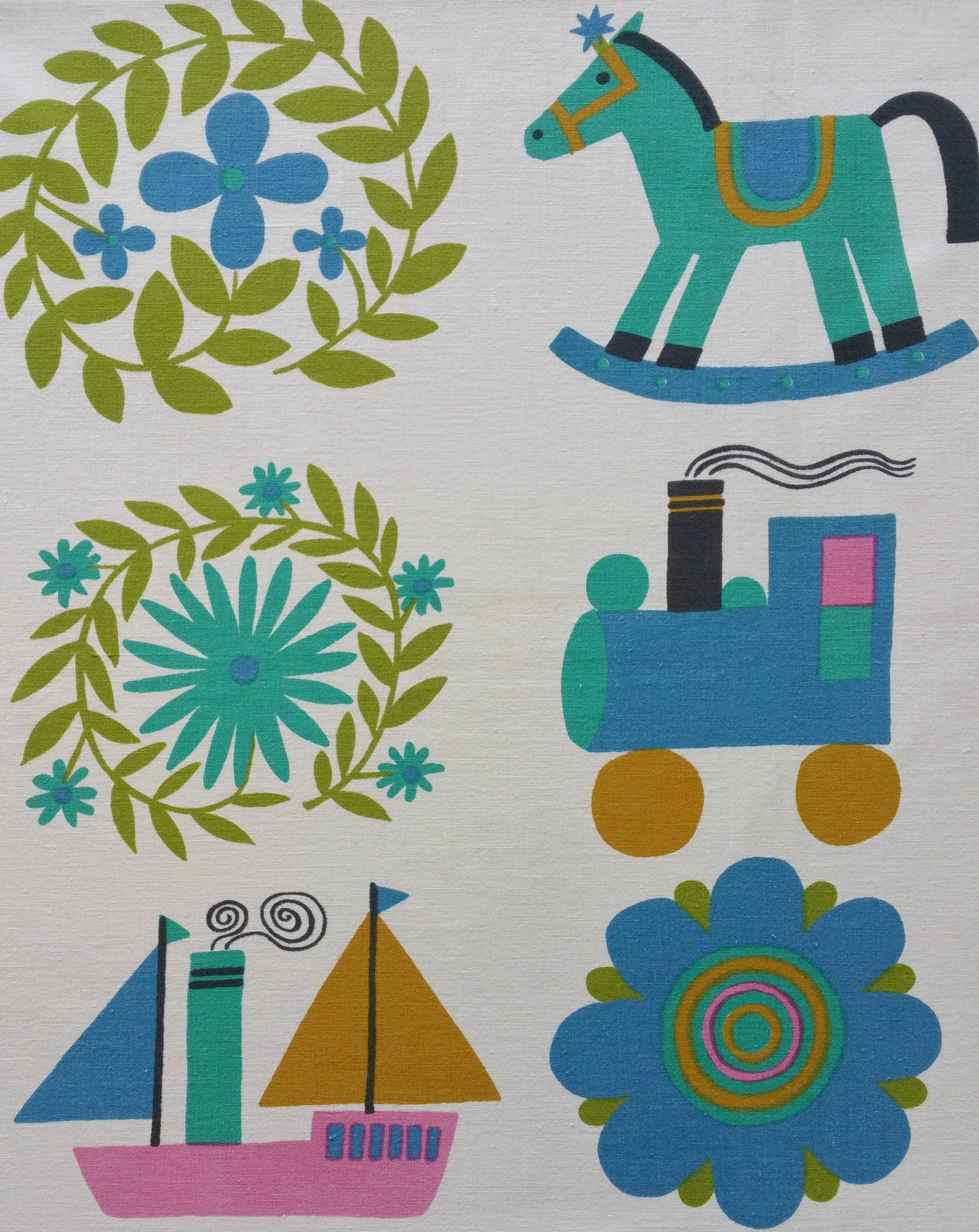 Image of 'Jackanapes' Vintage Fabric