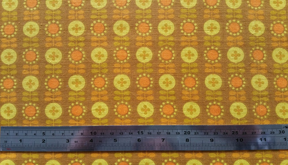 Image of Mustard Scandi Mini Floral - fat quarter