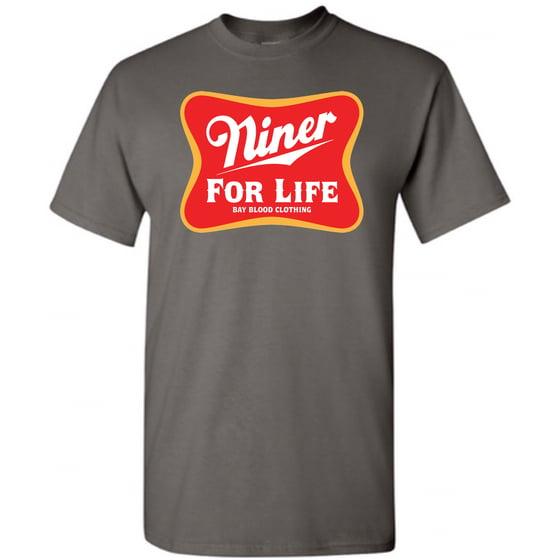 Image of Niner For Life Tee (charcoal)