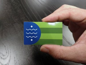 Image of Bellingham Flag Mini Sticker 5-Pack
