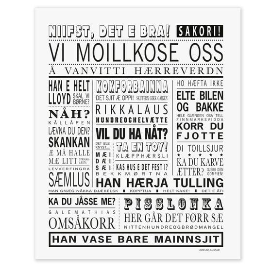 """Image of Finnmark postkort """"Vi moillkose oss"""""""