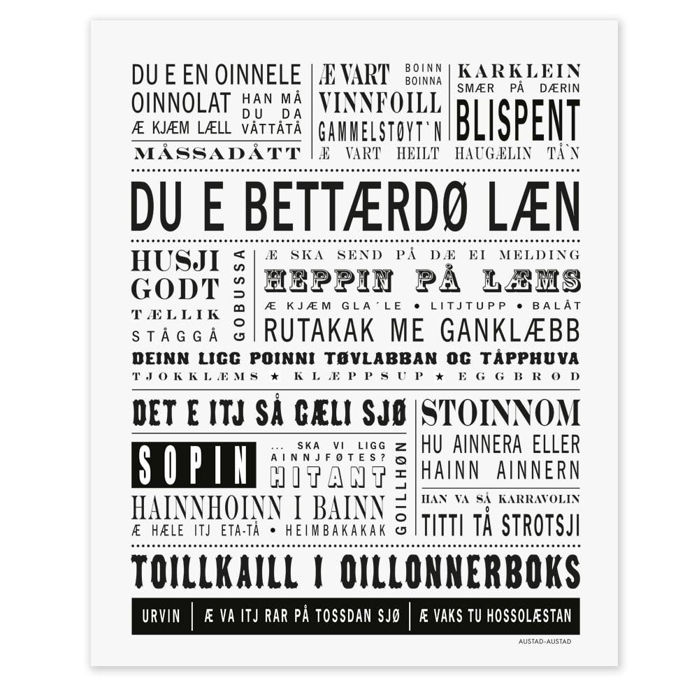 "Image of Trøndelag postkort ""Du e bettærdø læn"""
