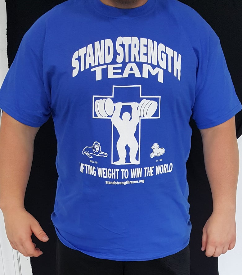 Image of Kentucky Blues Stand Strength Team Shirt