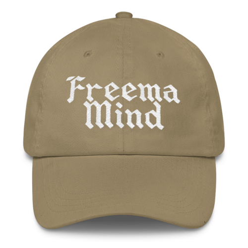Image of FREEMA MIND Embroidered 6-panel Classic Dad Cap