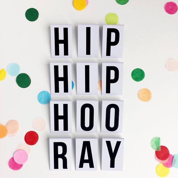 Image of Hip Hip Hooray Metal Letter Banner