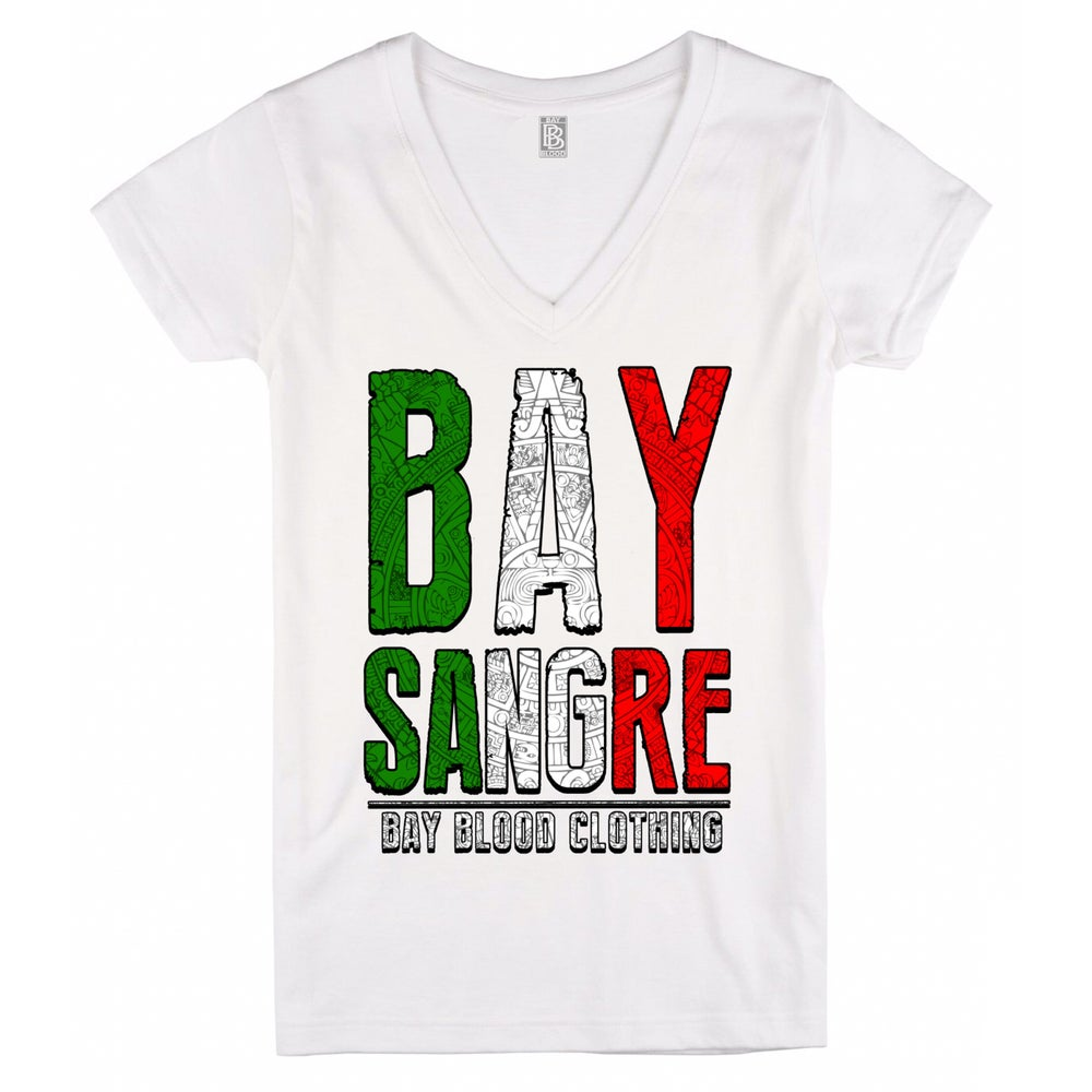 Image of Women's Bay Sangre Vneck (white)