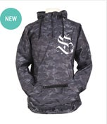 Image of (72 Hour) Charcoal Camo Windbreaker Hooded Jacket