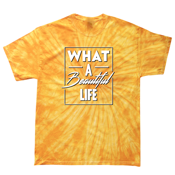 Image of What A Beautiful Life Tie Dye (Gold)