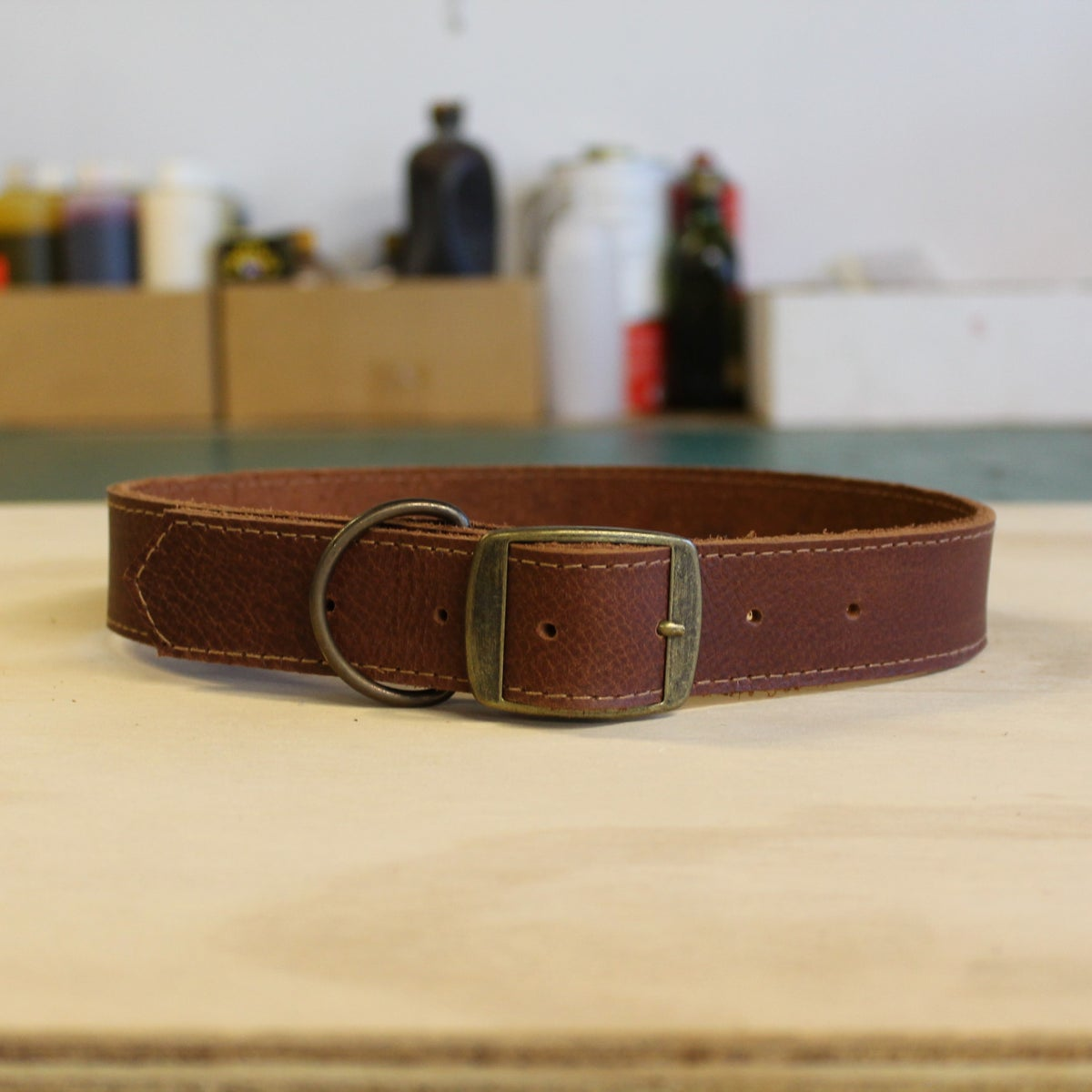 Image of Dog Collar - Chestnut - Large