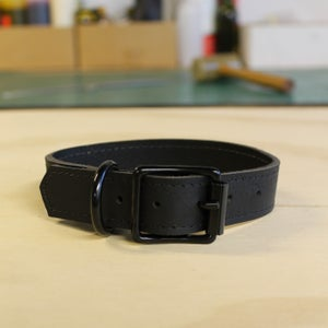 Image of Dog Collar - Black on Black - Small/Medium