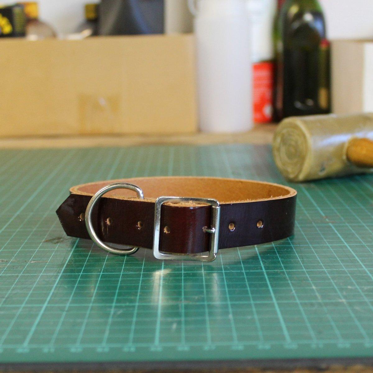 Dog Collar - Patent maroon - Small/Medium