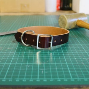 Image of Dog Collar - Patent maroon - Small/Medium