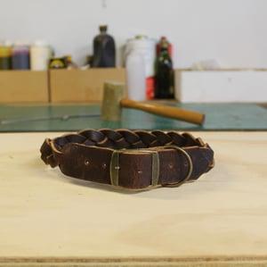 Image of Dog Collar - Plaited - Large