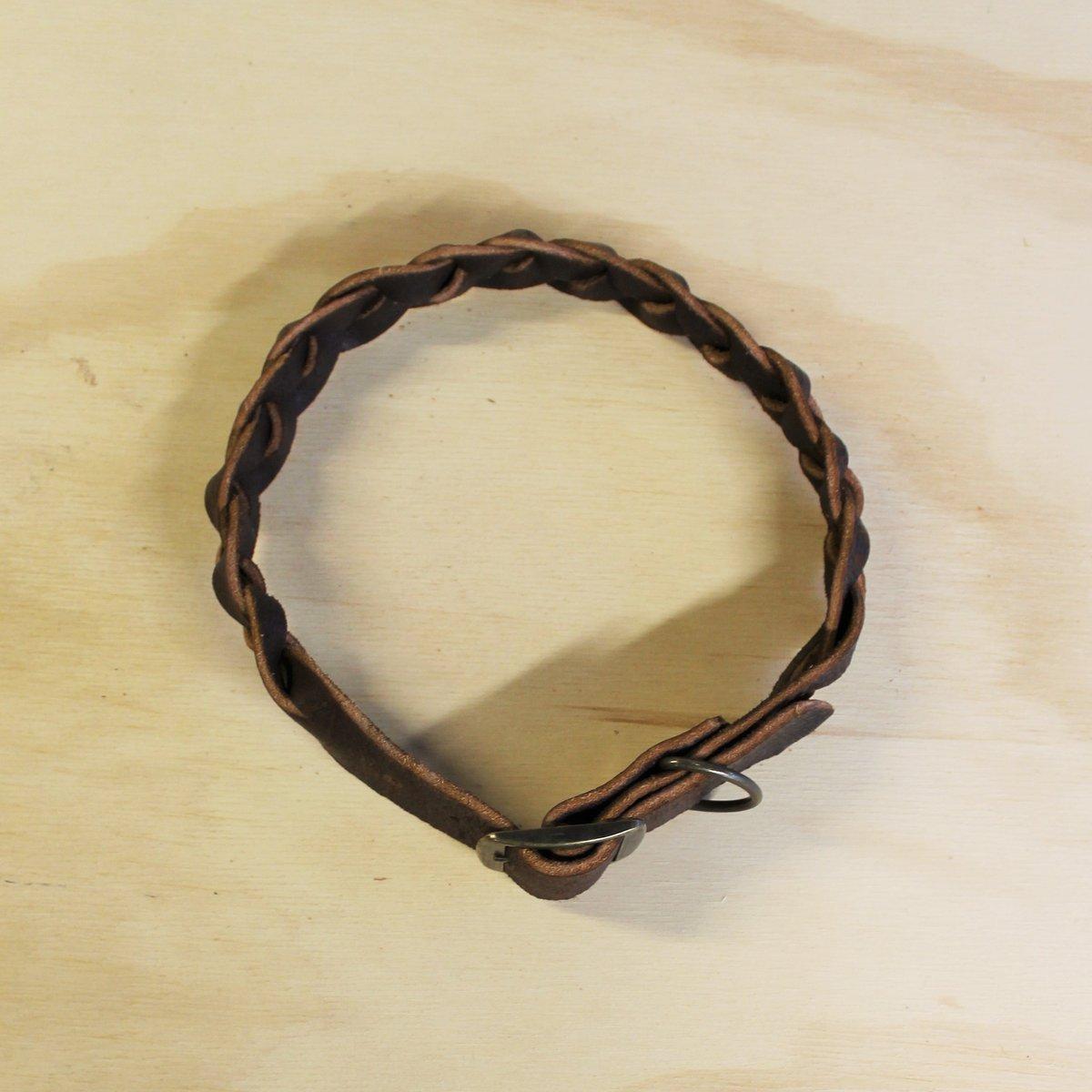 Dog Collar - Plaited - Large