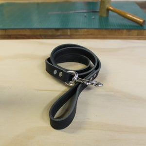 Image of Dog Lead - Black with Nickel