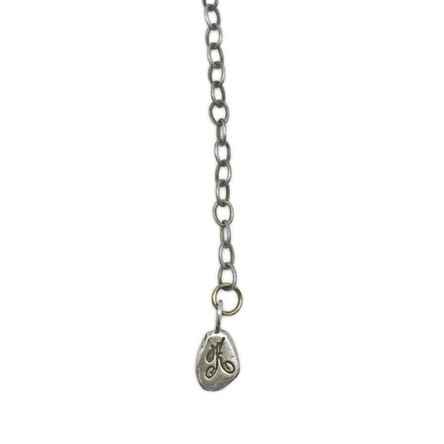 Image of fish-spike necklace (P116sil1822)