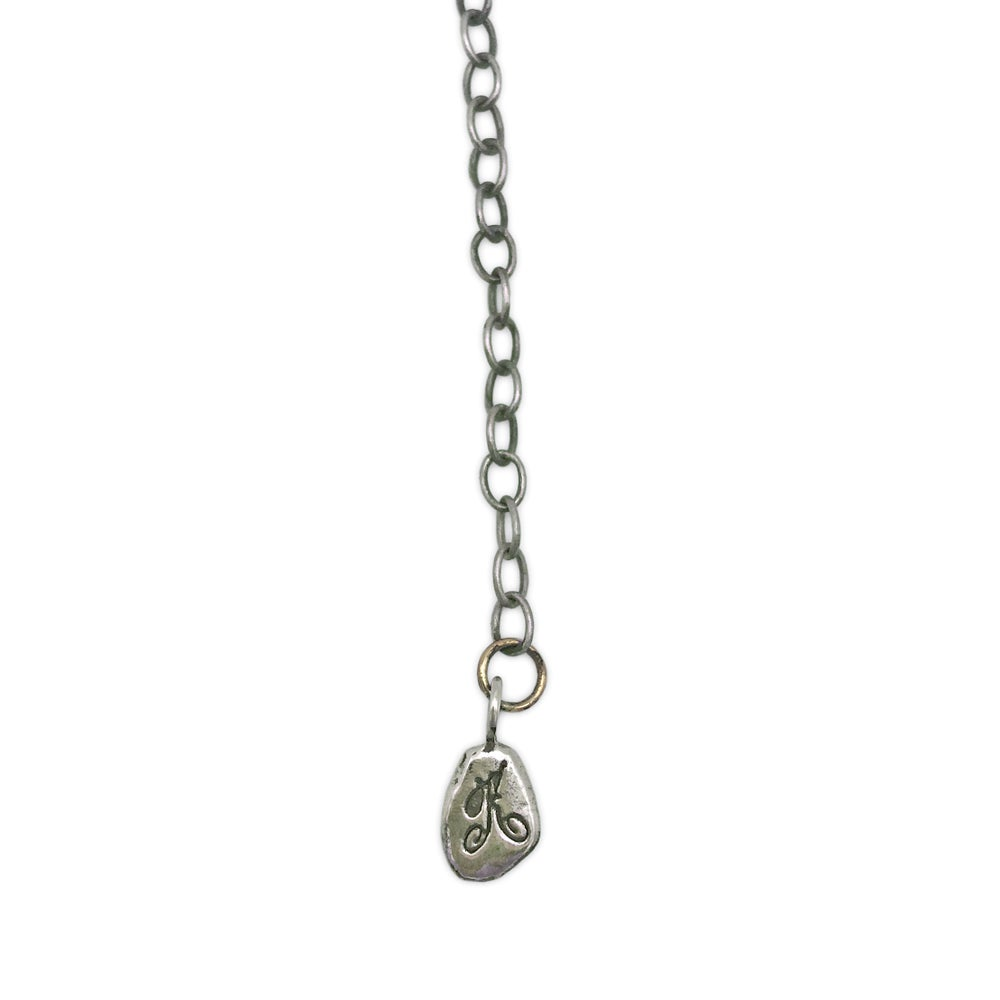 Image of 7 branch & bead drop necklace  (P106SILBRA1620)