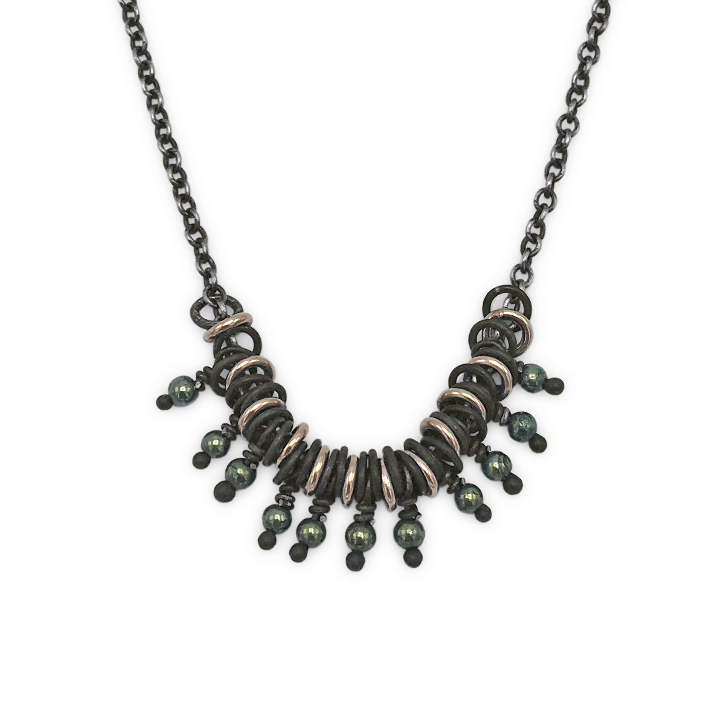 Image of Bead & Jump-Ring Necklace