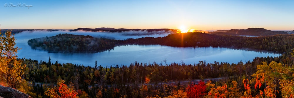 Image of Misty Morning at Caribou Lake (Panorama)