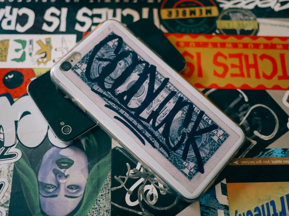 "Image of ""GOODLUCK"" iPhone Case for 5/5S/5E, 6/6S/6Plus, or 7/7Plus"