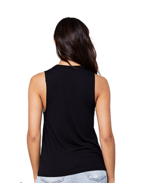 Image of Peace Out: cut-neck tank
