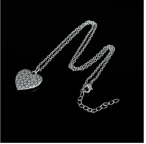 Image of Autism Necklace-My heart