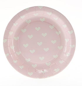 Image of Pink Sweethearts Cake Plate