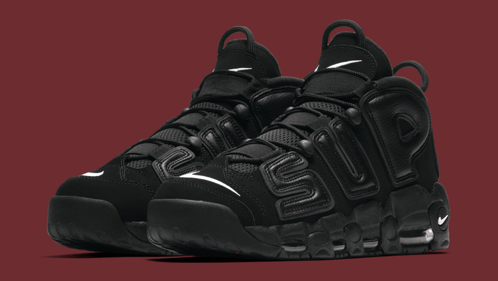 buy popular db414 1ffd3 Image of Supreme x Nike Air More Uptempo Black