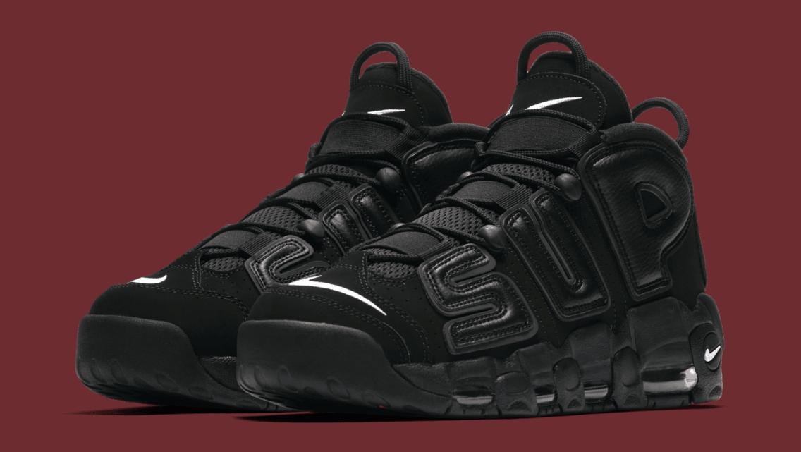 Supreme x Nike Air More Uptempo Black   TheKingasaurous 178b6e451
