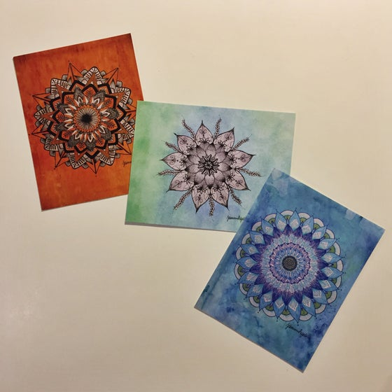Image of Mandala Postcard Set