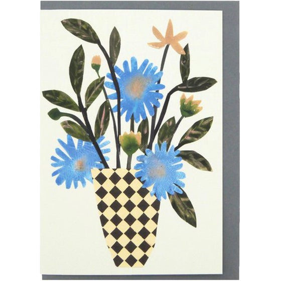 Image of Chequer Vase Card