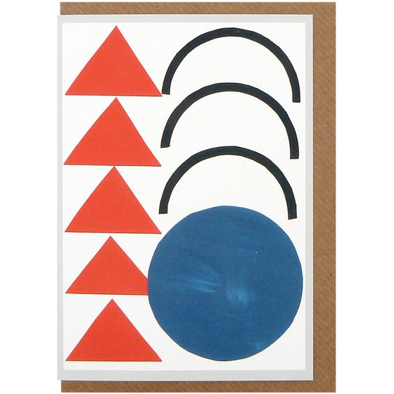 Image of Johnston Triangles Card